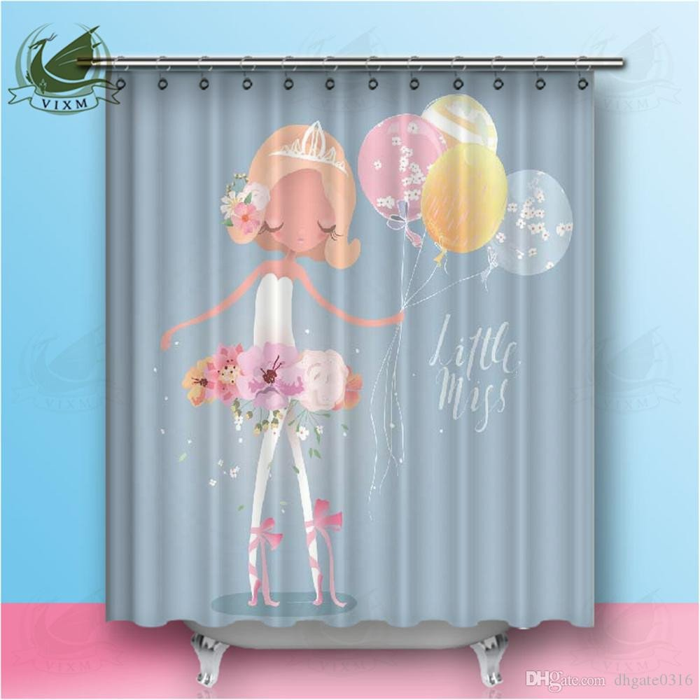 Peach Curtains for Bedroom Elegant 2019 Vixm Fabric Shower Curtain Hooks Free Hand Drawing Ballerina Ballet Dancer Girl Freehand Sketch Classical Dance From Dhgate0316 $12 68