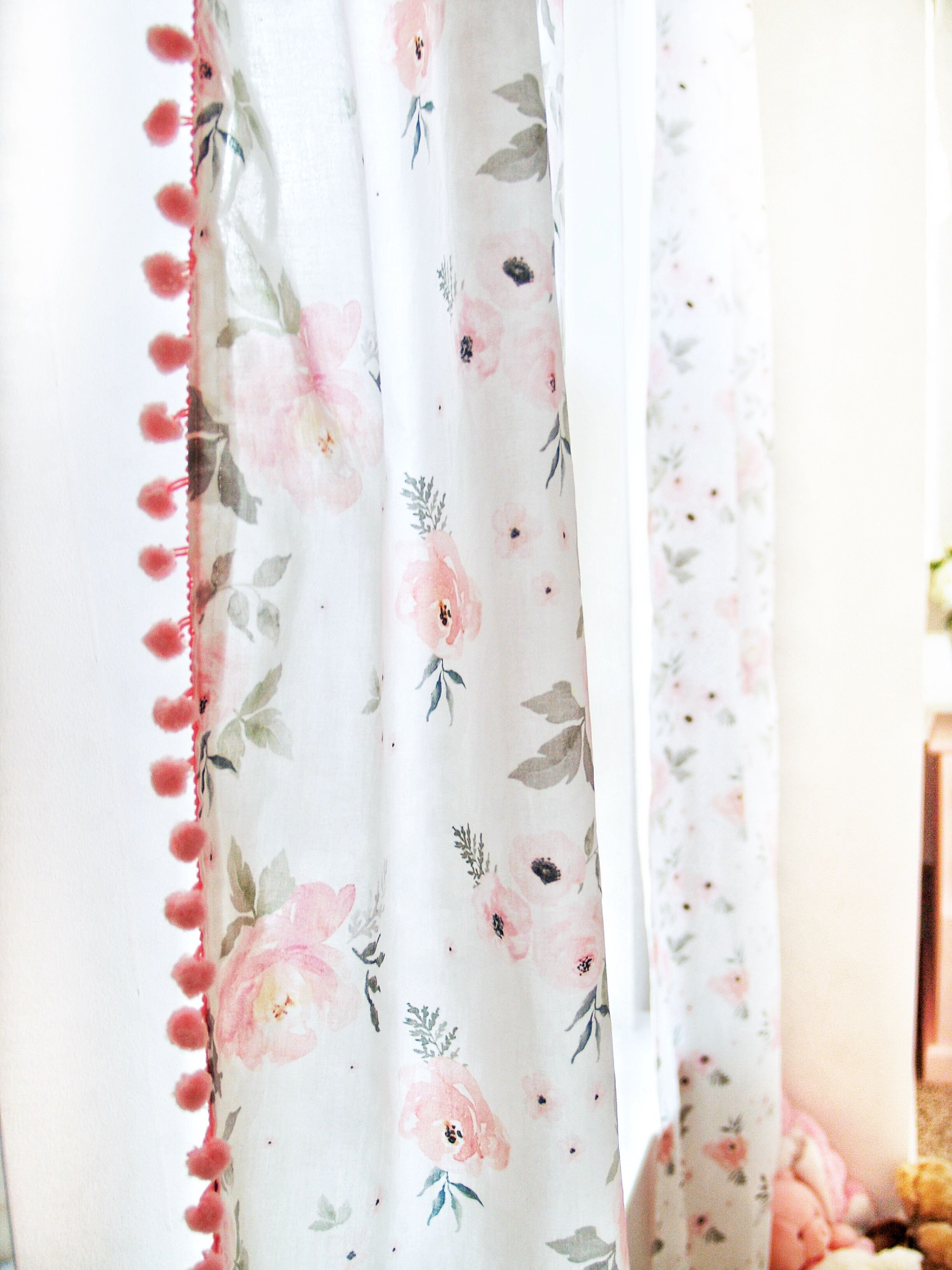 Peach Curtains for Bedroom Luxury these Pompon Floral Curtains Added the Perfect touch to