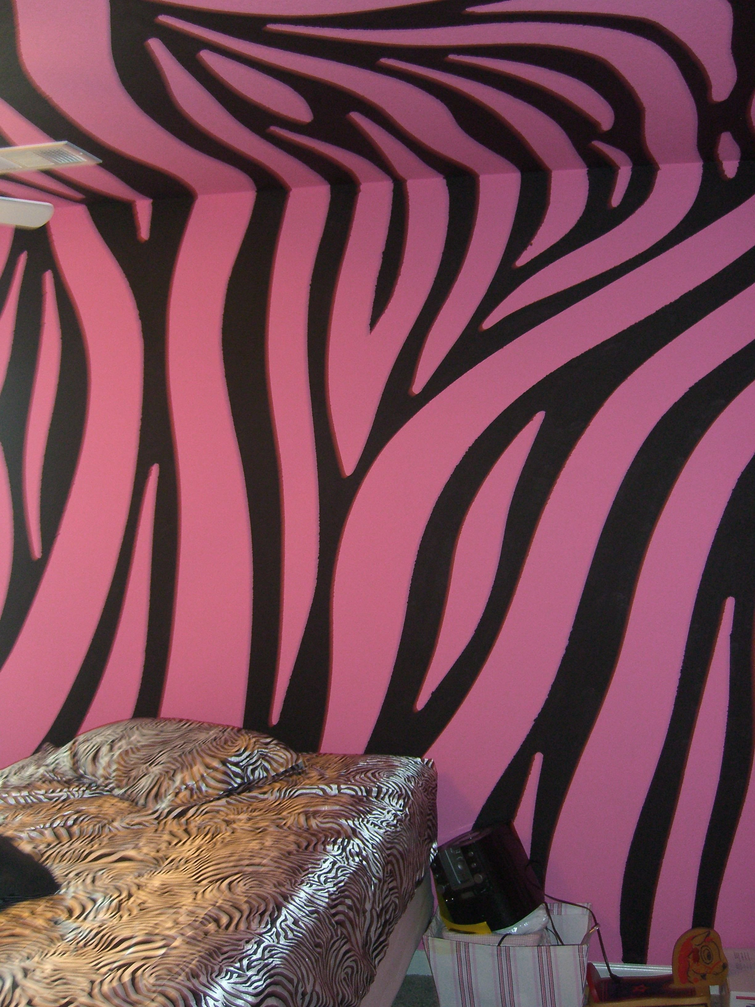 Pink and Black Bedroom Elegant Super Cool Pink and Black Zebra Walls Painted by Chris W