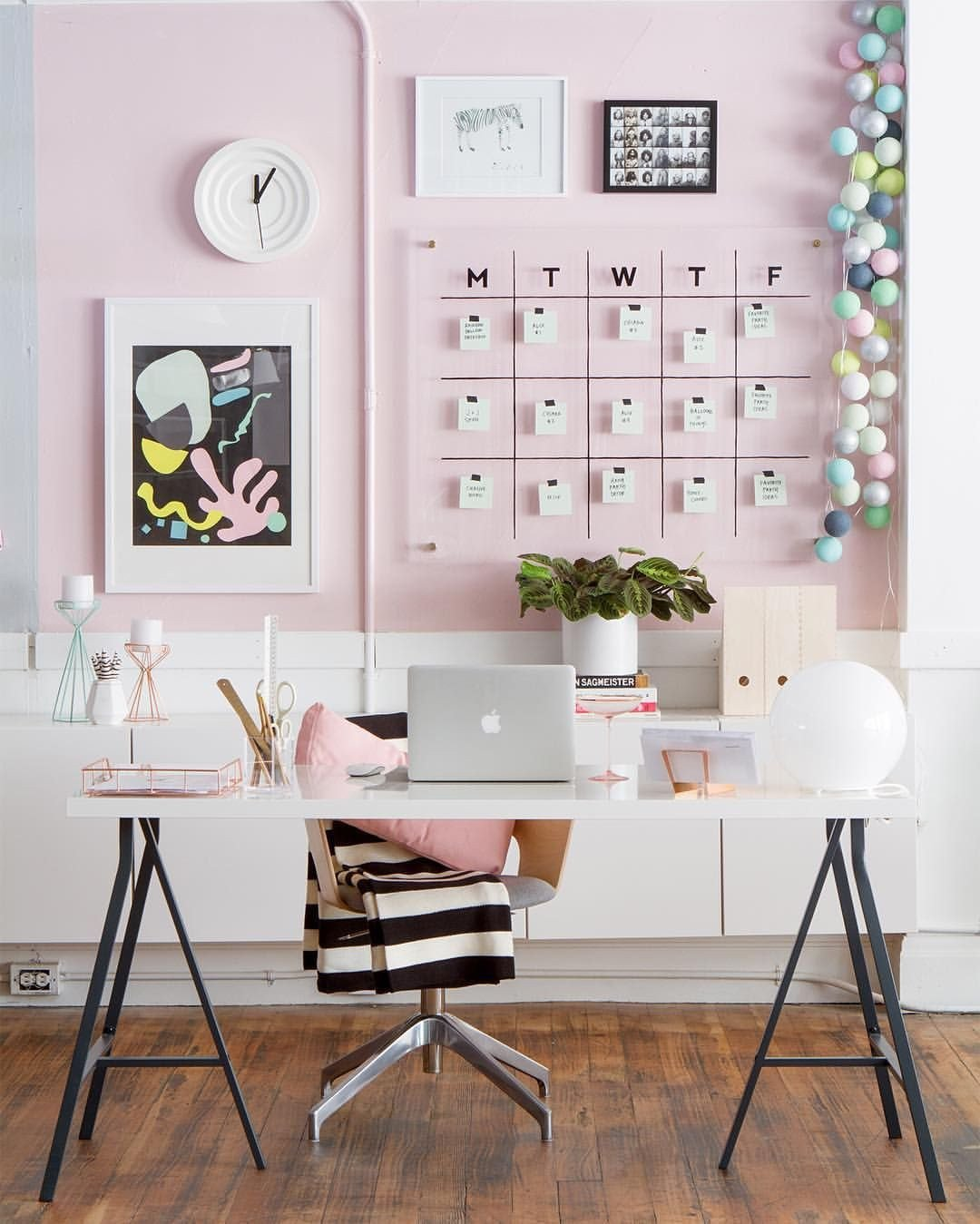 Pink and Black Bedroom Lovely Modern Pink White and Black Home Office Workspace Decor