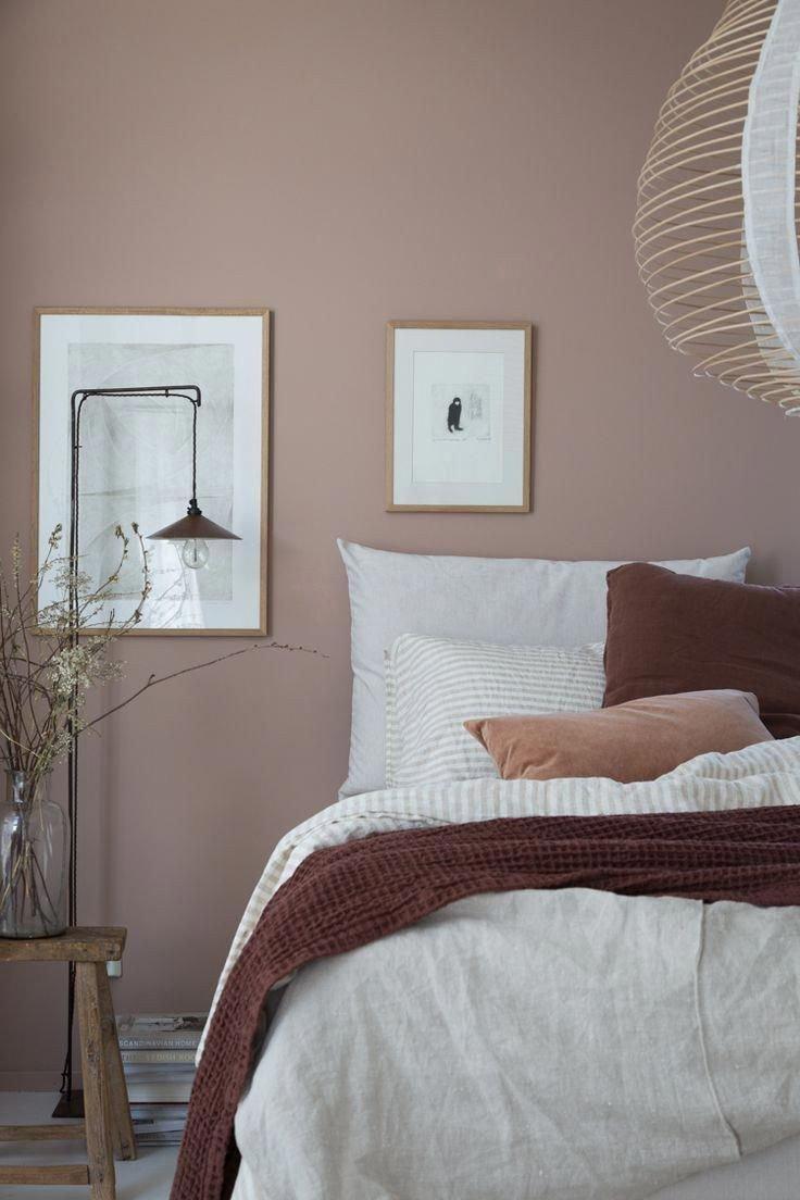 Pink and Brown Bedroom Unique Pink and Brown Colour Scheme In Scandinavian Bedroom