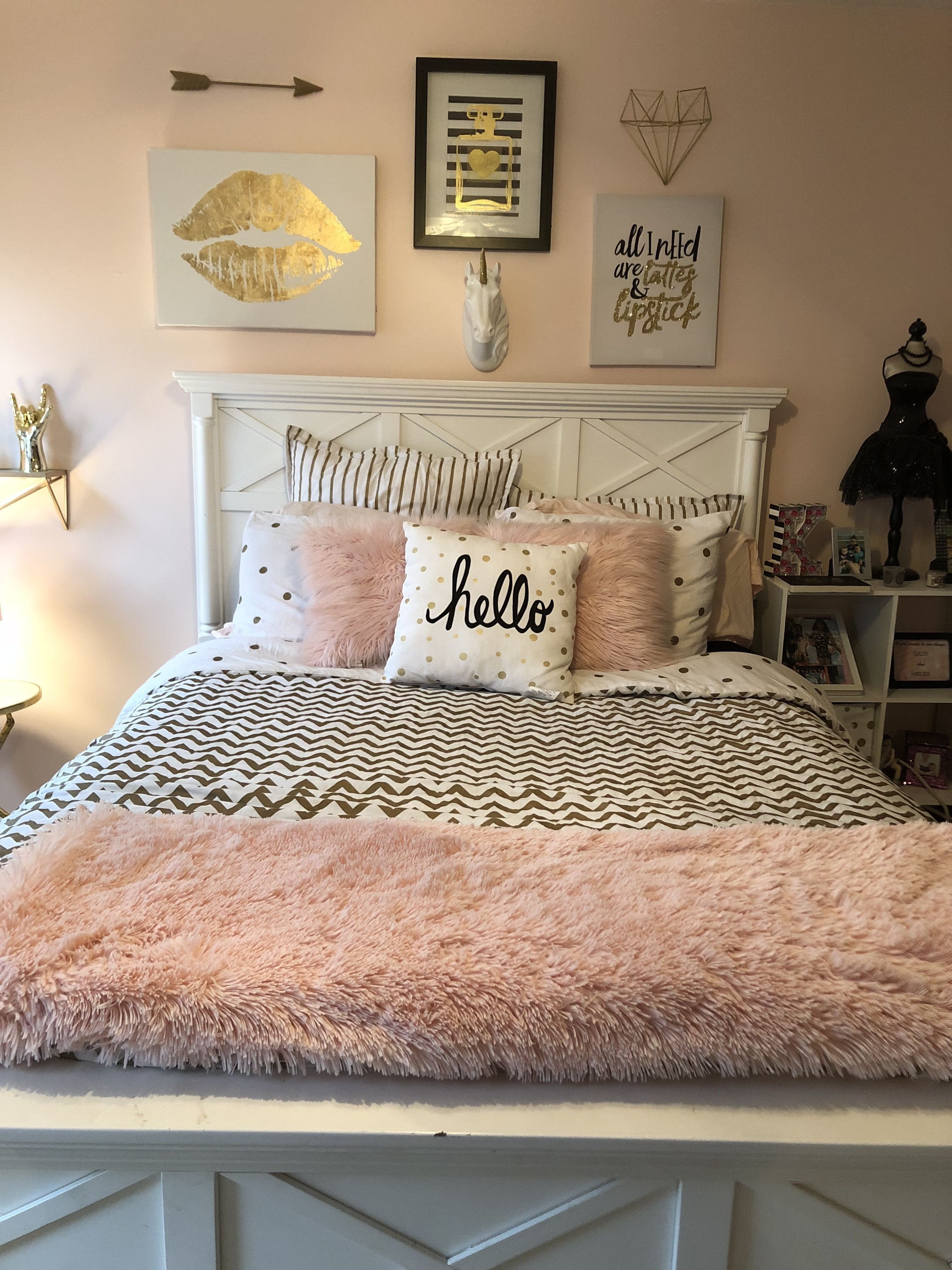 Pink and Gold Bedroom Set Elegant Pin On New House