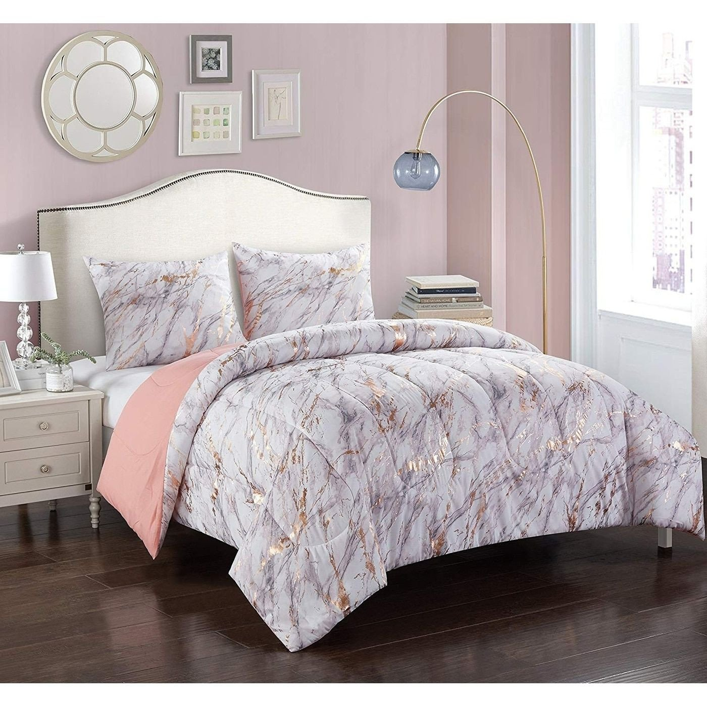Pink and Gold Bedroom Set Unique Rose Gold and Marble forter Set Twin Pink Pop Shop