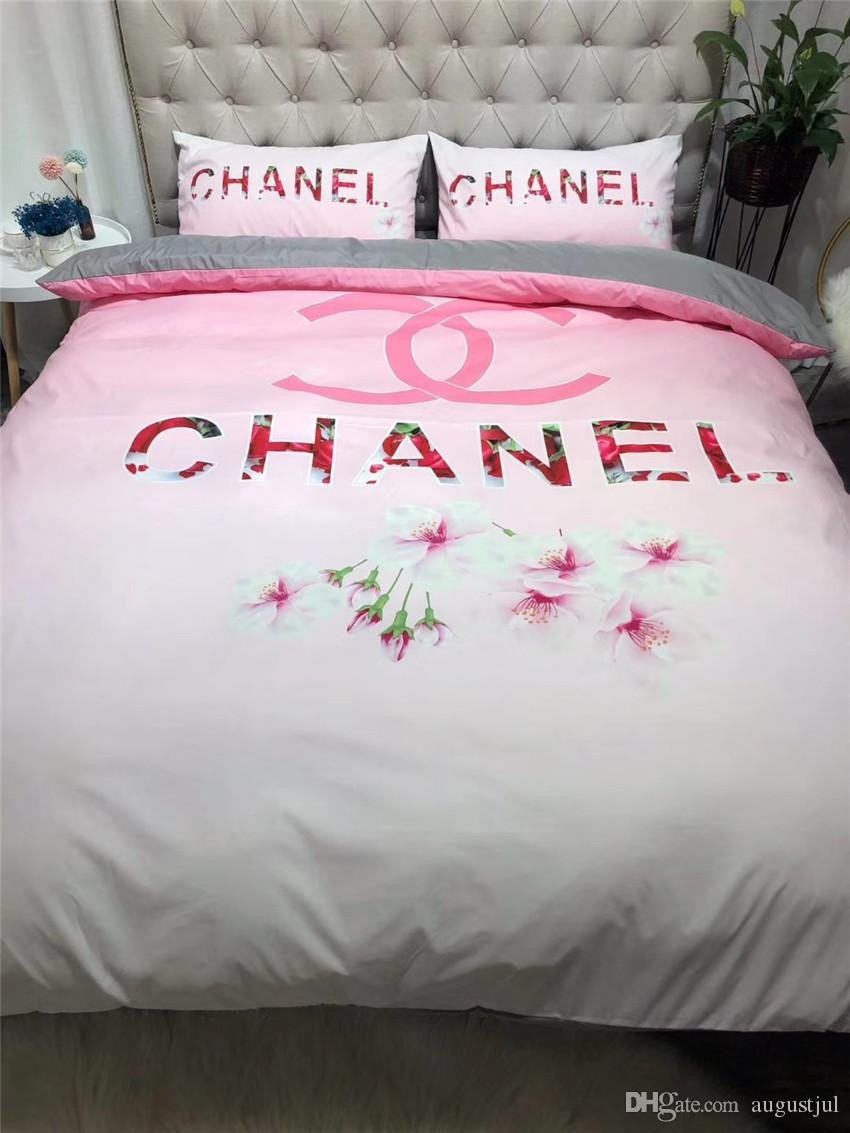 Pink and Gray Bedroom Awesome Pink Flower Design Bedding Sets Duplex Modal Spring Summer Brand Bed Cover Suit for Europe and America Pretty Duvet Covers Discounted Bedding From