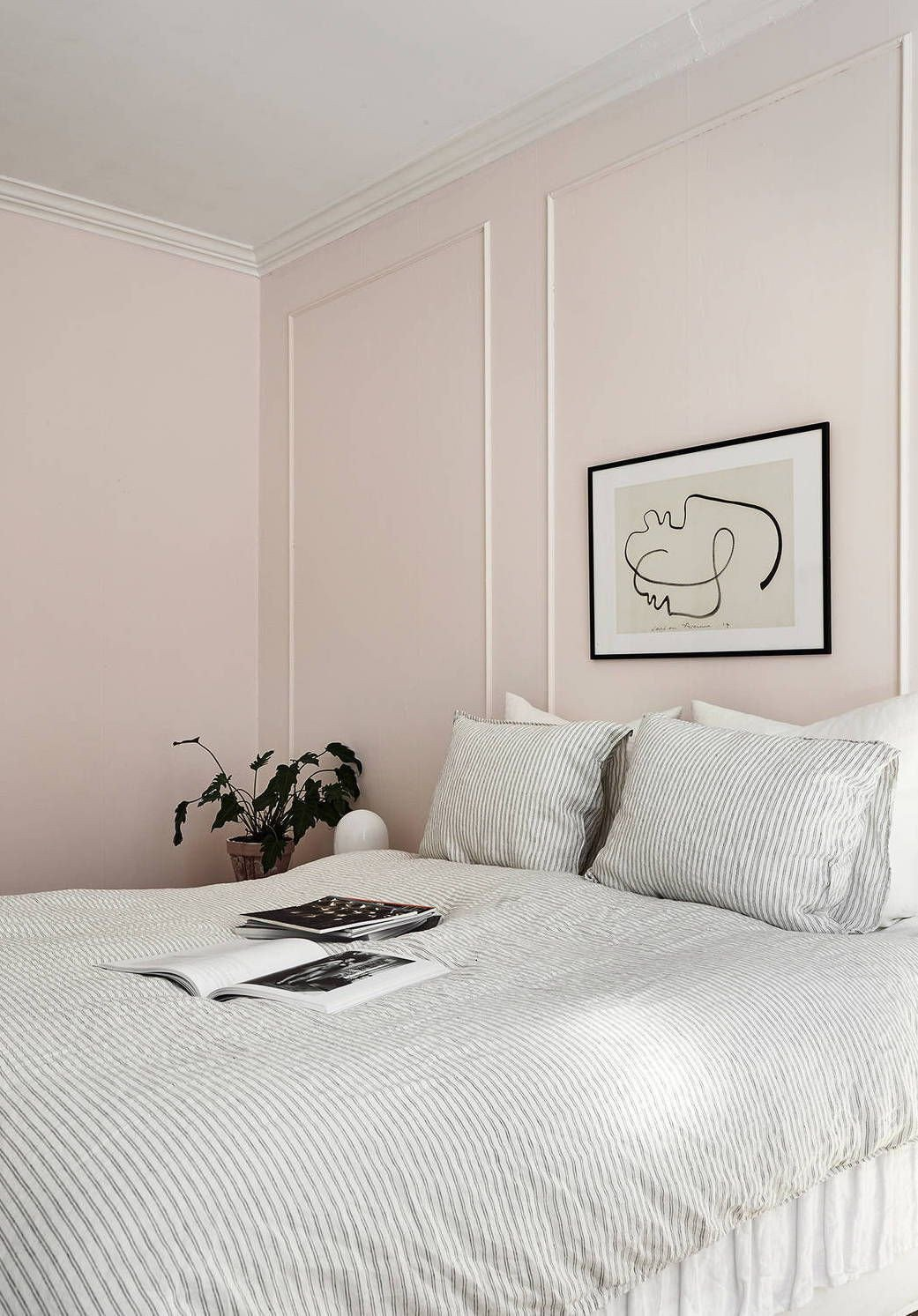 Pink and Gray Bedroom Elegant A Powder Pink Bedroom Peeking Through Via Coco Lapine