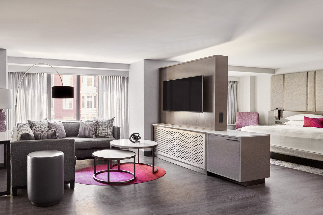 Pink and Gray Bedroom Fresh San Francisco Marriott Marquis Invites Guests to Let their