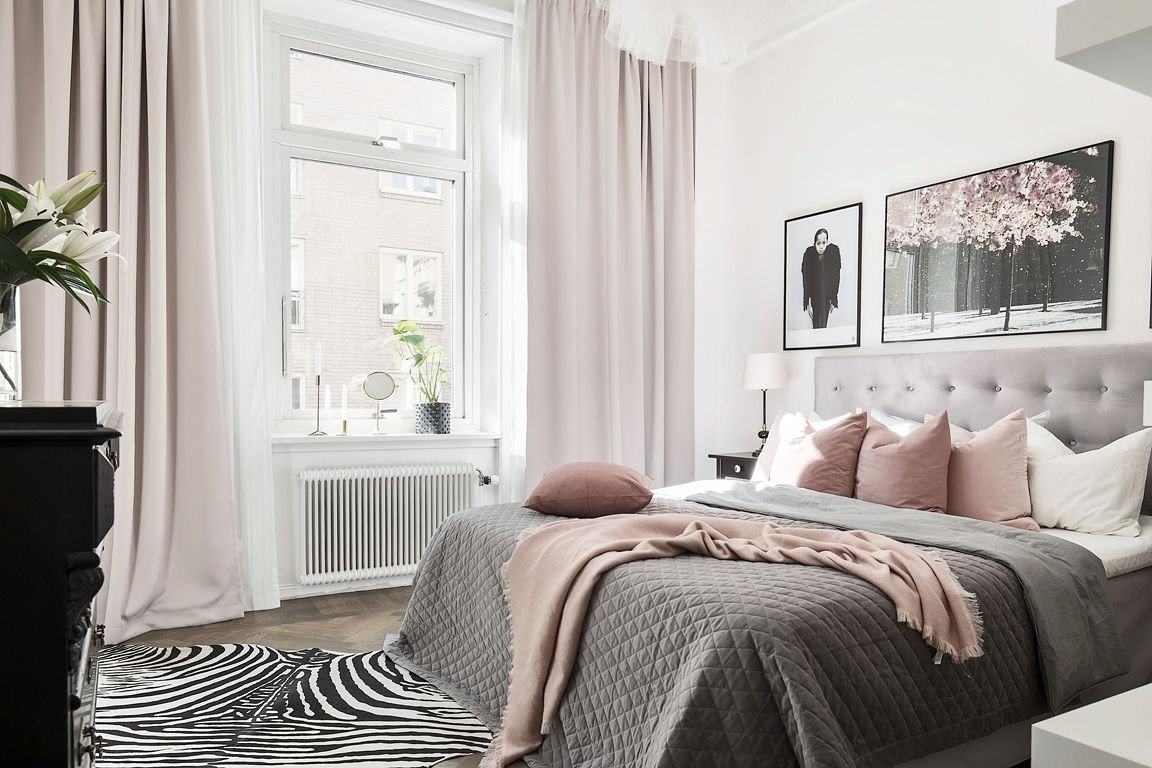 Pink and Grey Bedroom Lovely Our Bedroom Grey and Dusty Pink