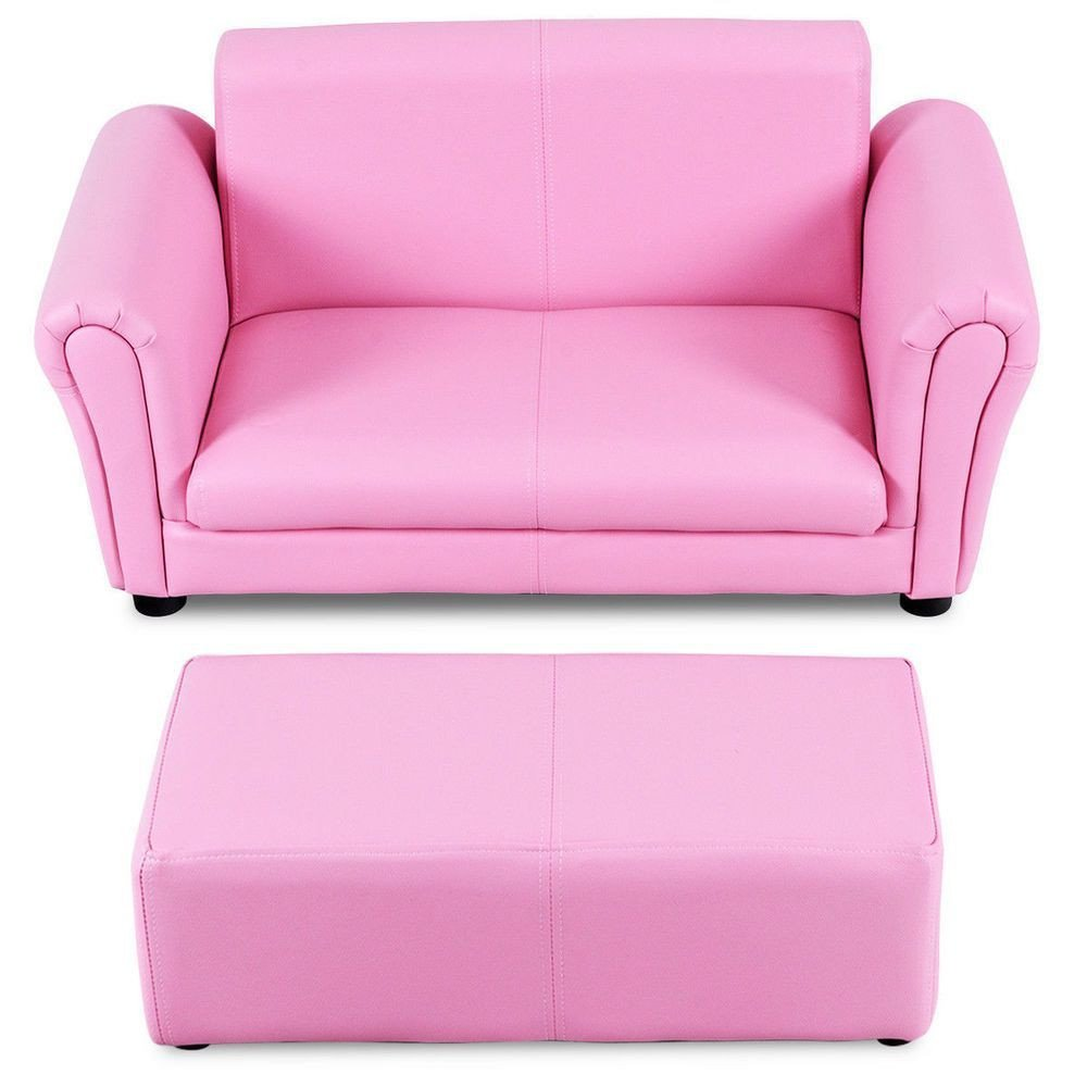 Pink Chair for Bedroom Awesome Armrest sofa Lounging Couch W Ottoman Kid S Bedroom