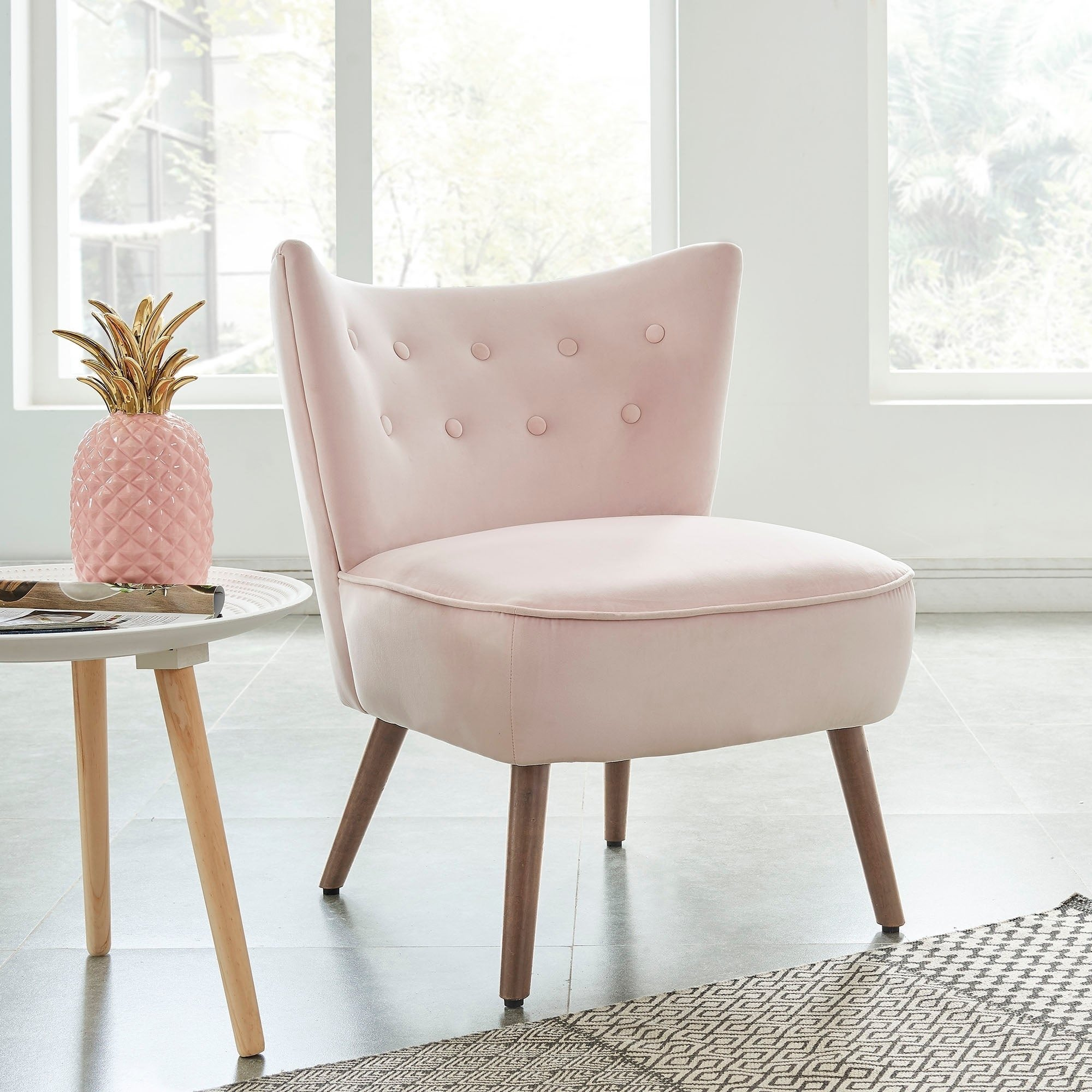 Pink Chair for Bedroom Elegant Chair Blush Accent Chair