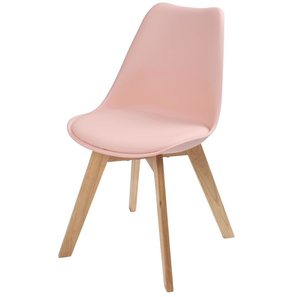 Pink Chair for Bedroom Luxury Pastel Pink Scandinavian Chair with Oak