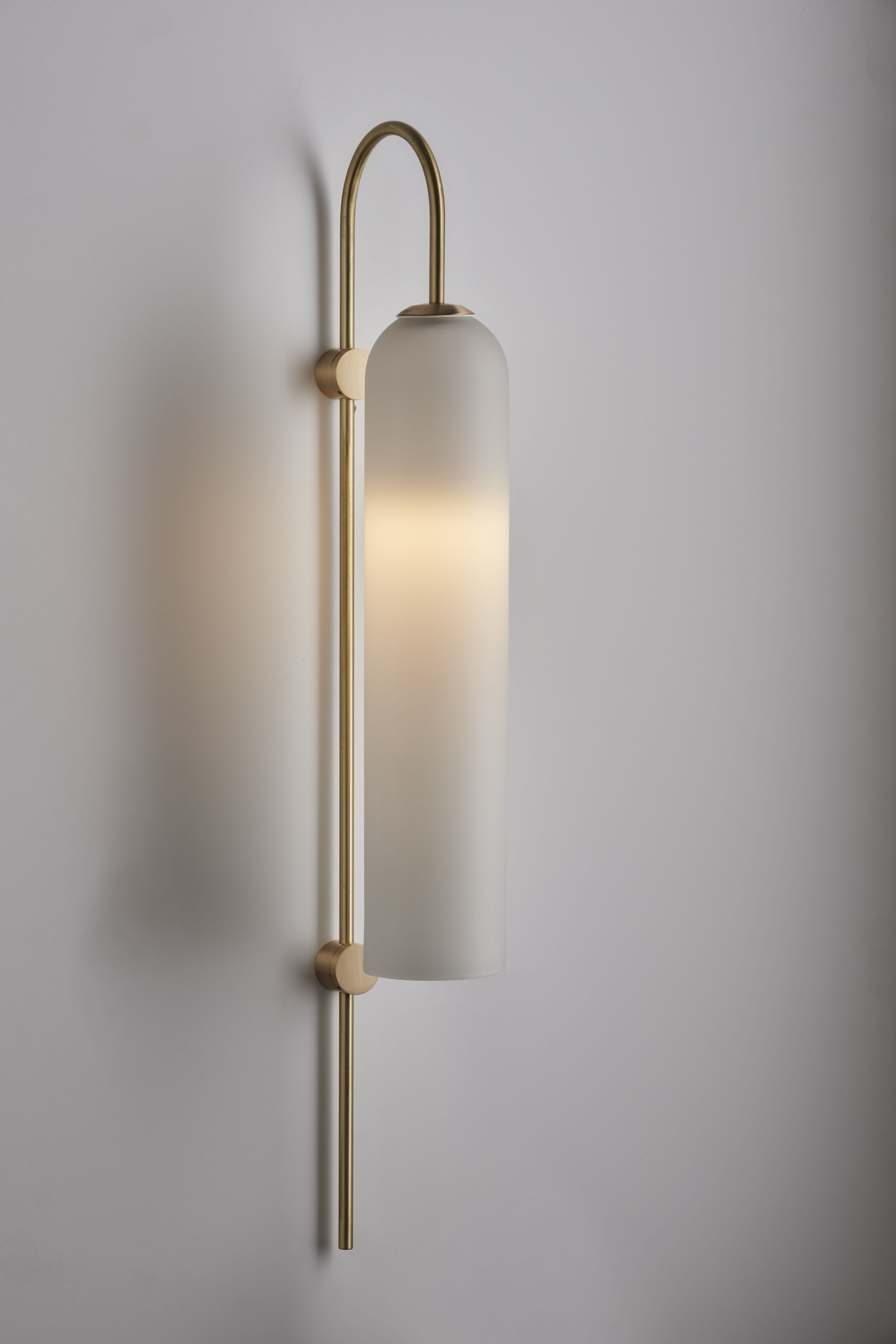 Plug In Wall Lamps for Bedroom Fresh Articolo Float Wall Sconce Brass Rod and Fitting with Snow