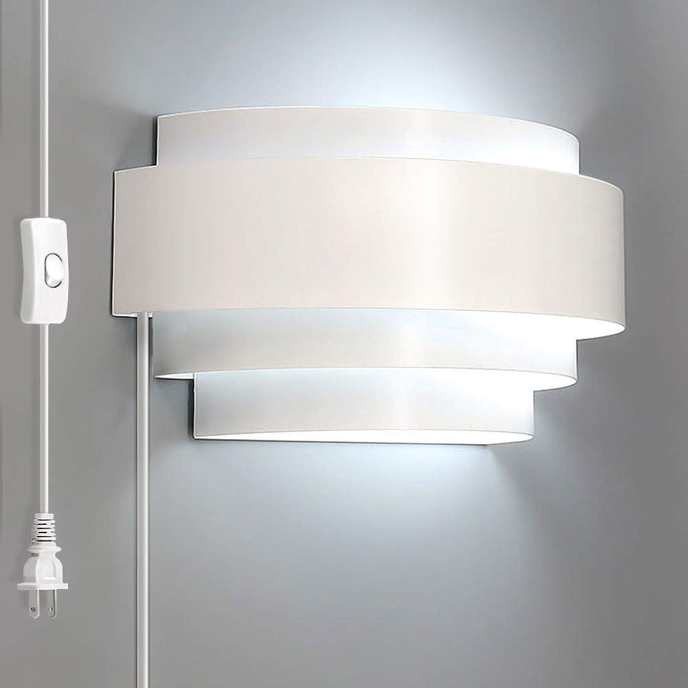 Plug In Wall Lamps for Bedroom Inspirational Lightess Modern Sconce Lighting Plug In 6w Led Up Down Wall Lamp for Bedroom Hallway Cool White