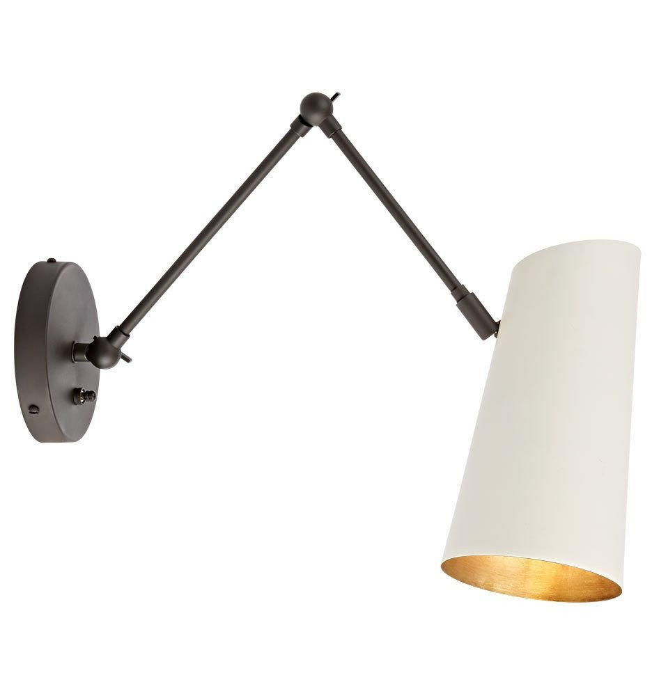 Plug In Wall Lamps for Bedroom Lovely Cypress Articulating Sconce Oil Rubbed Bronze with White