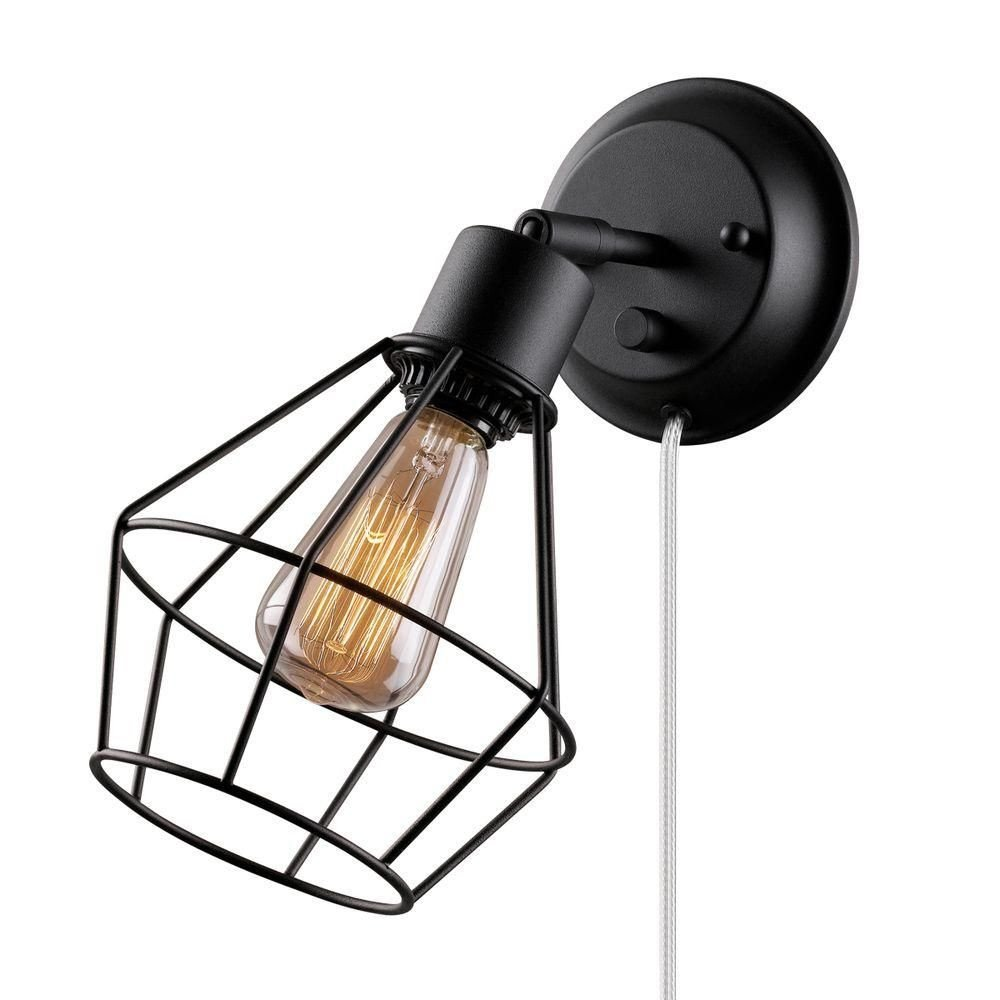 Plug In Wall Lamps for Bedroom New Globe Electric 1 Light Black Shade Plug In Wall Sconce with