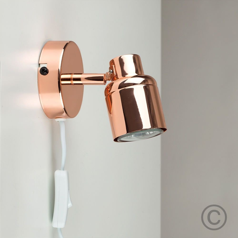 Plug In Wall Light for Bedroom New Contemporary Copper Adjustable Single Wall Light Plug In