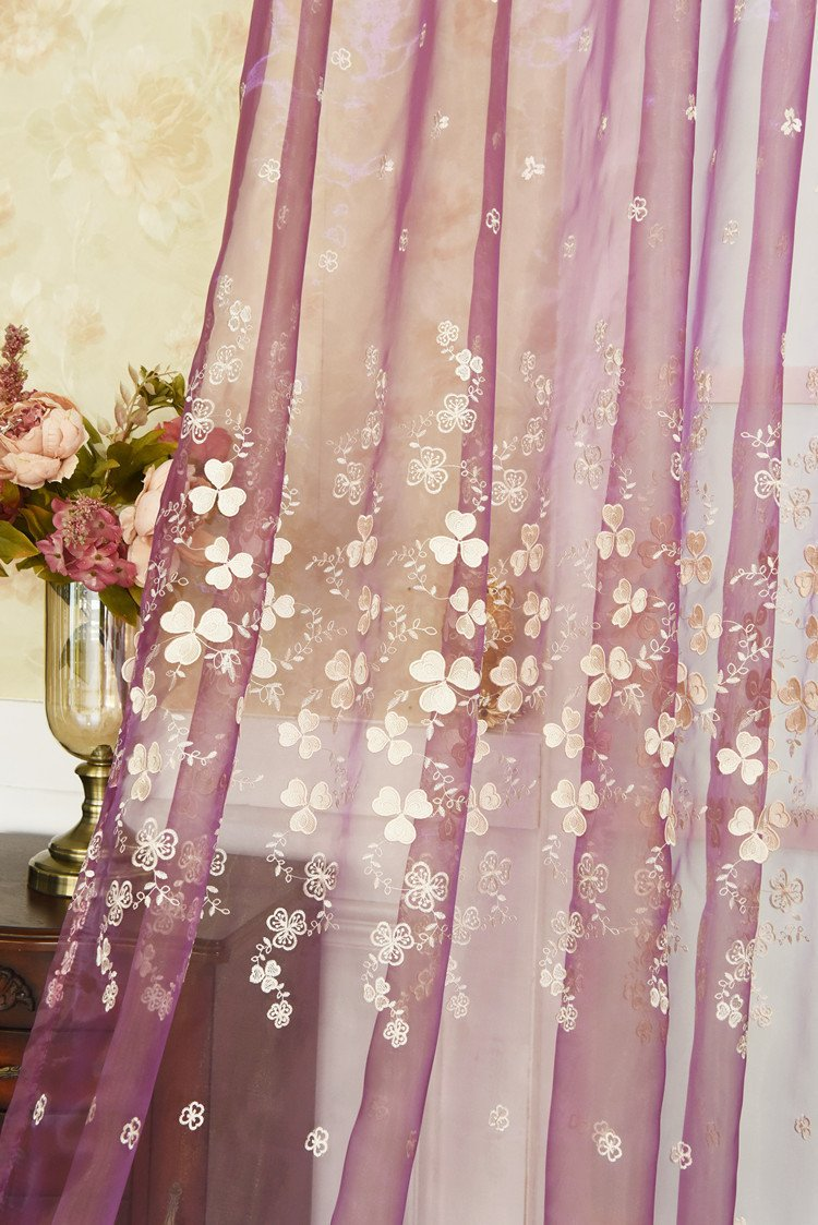 Plum Curtains for Bedroom Awesome 2019 2018 Sheer Curtains for Living Room Embroidered Plum Embossed Pink Bedroom Girl Wedding Princess Tulle Lucky Leaves Curtain From Hobarte $35 33