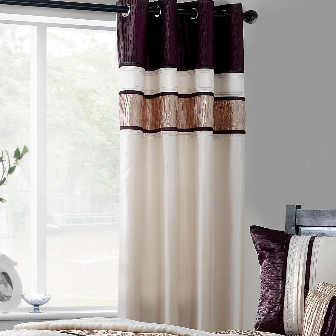 Plum Curtains for Bedroom Awesome Plum Manhattan Lined Eyelet Curtains Dunelm