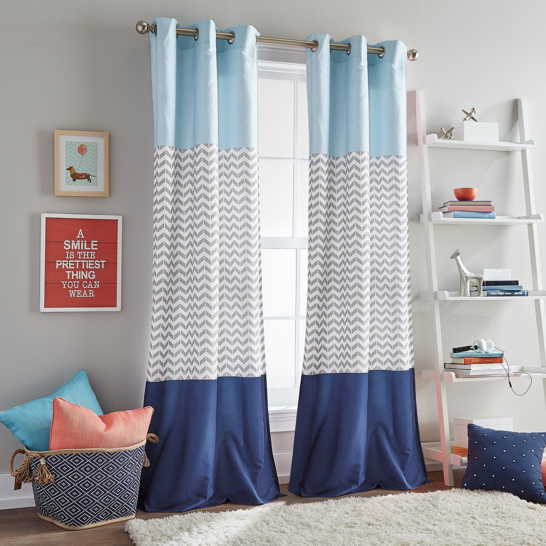 Plum Curtains for Bedroom Best Of Chevron Colorblock Room Darkening Grommet Curtain Panel Pair