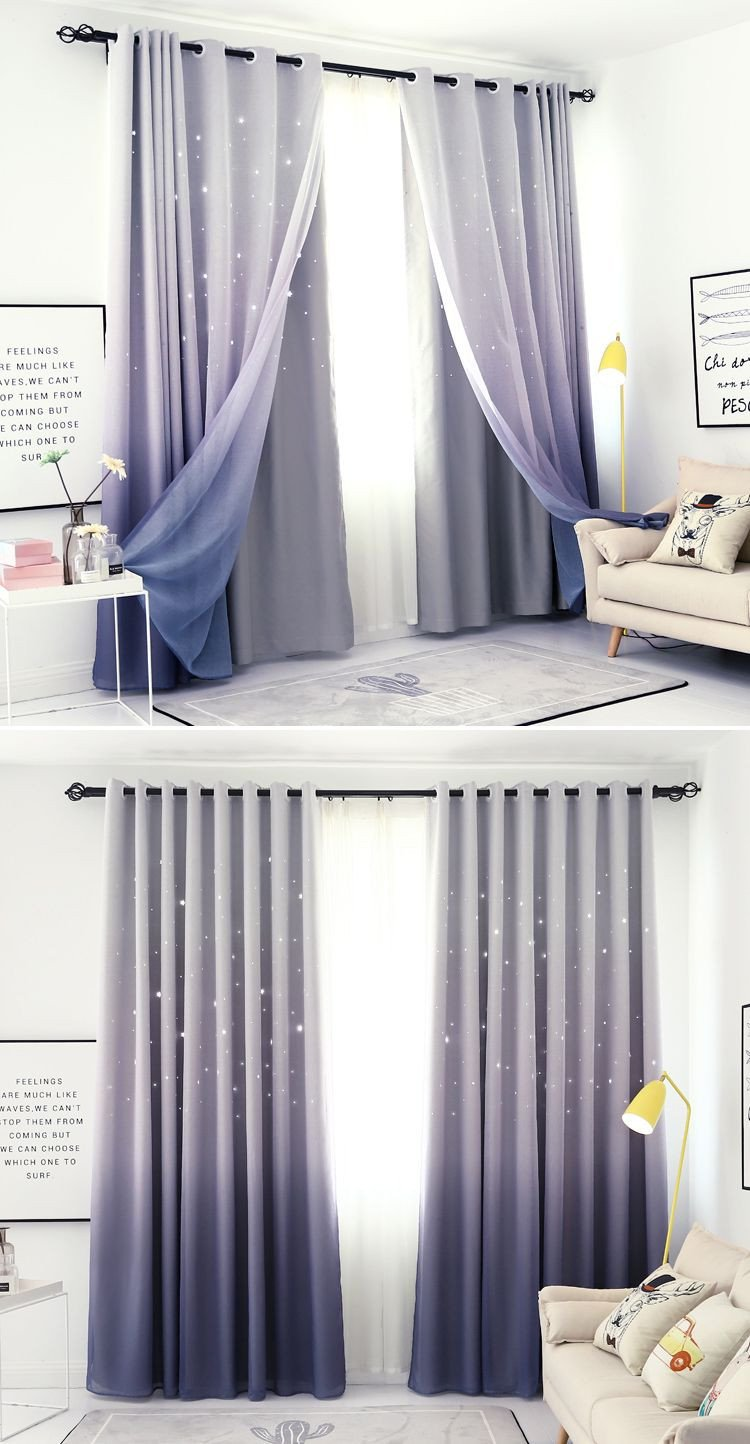 Plum Curtains for Bedroom Elegant Stars Block Out Curtains In Grey Purple In 2019
