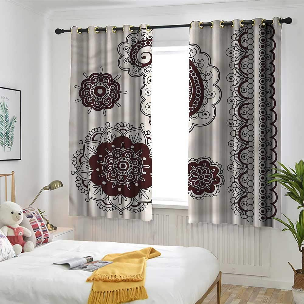 Pretty Curtains for Bedroom Elegant Amazon Lightly Curtain Henna Tattoo Doodle Paisley 54