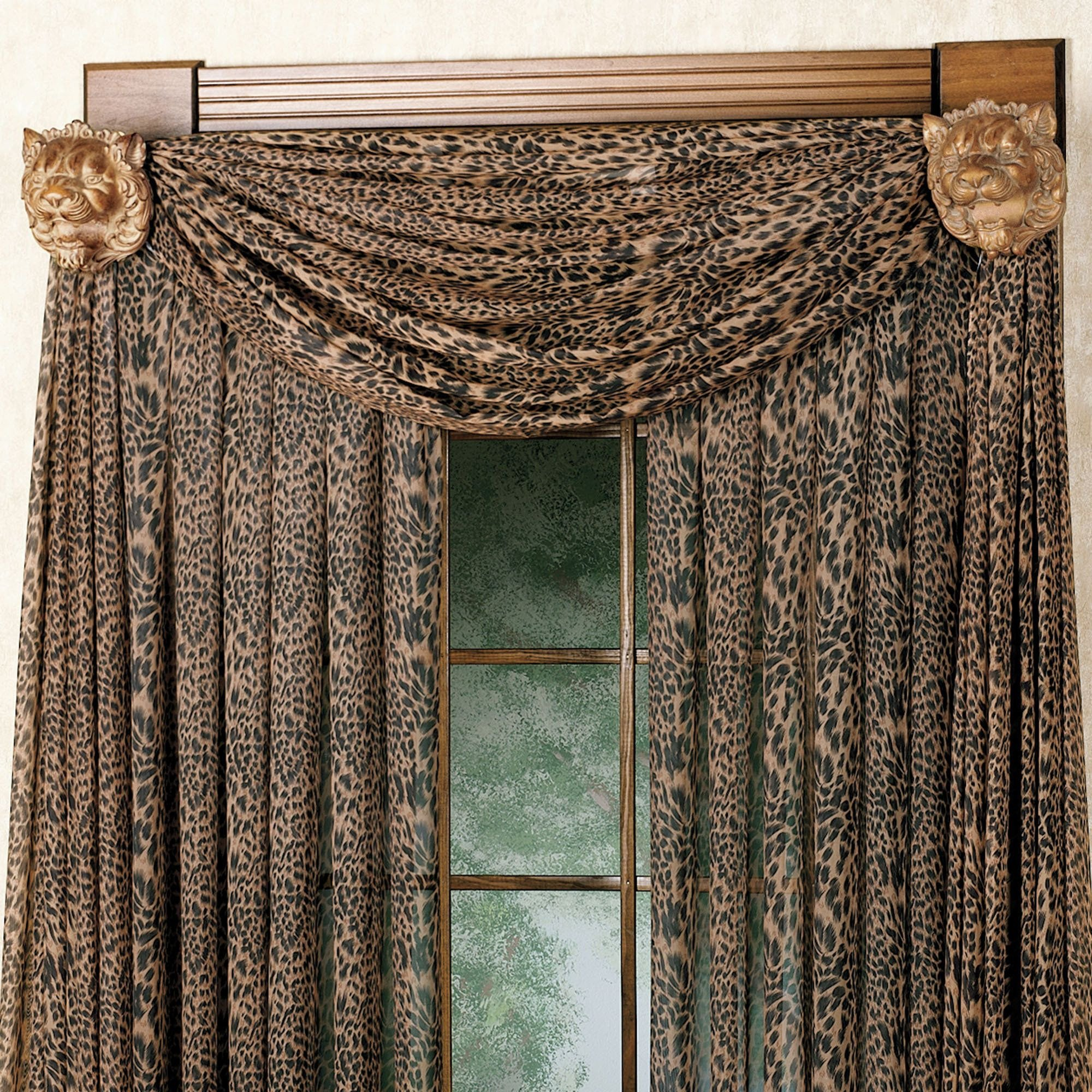 Pretty Curtains for Bedroom Lovely Leopard Curtains and Valance Want them for My Living Room