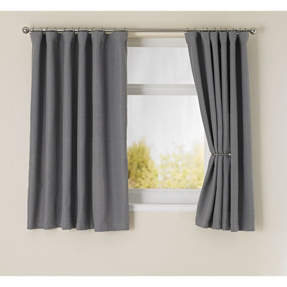 Pretty Curtains for Bedroom Lovely Wilko Blackout Curtains Grey 167x137cm Wilkinsons £30 In