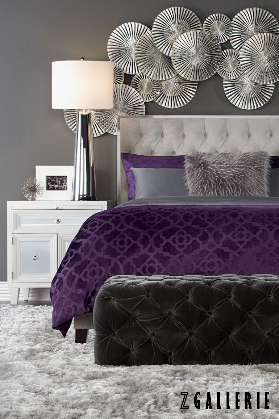 Purple and Silver Bedroom Inspirational 384 Best Purple Rooms Ideas Images
