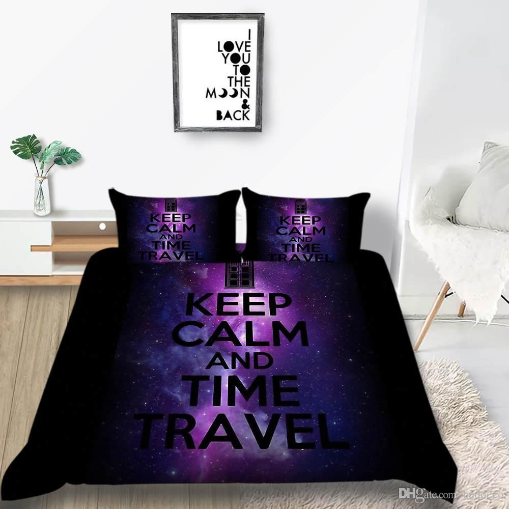 Purple and Teal Bedroom Beautiful Time Travel Bedding Set Galaxy Fantasy Mysterious Creative Duvet Cover Queen King Twin Full Single Double Bed Cover with Pillowcase forter Bedding