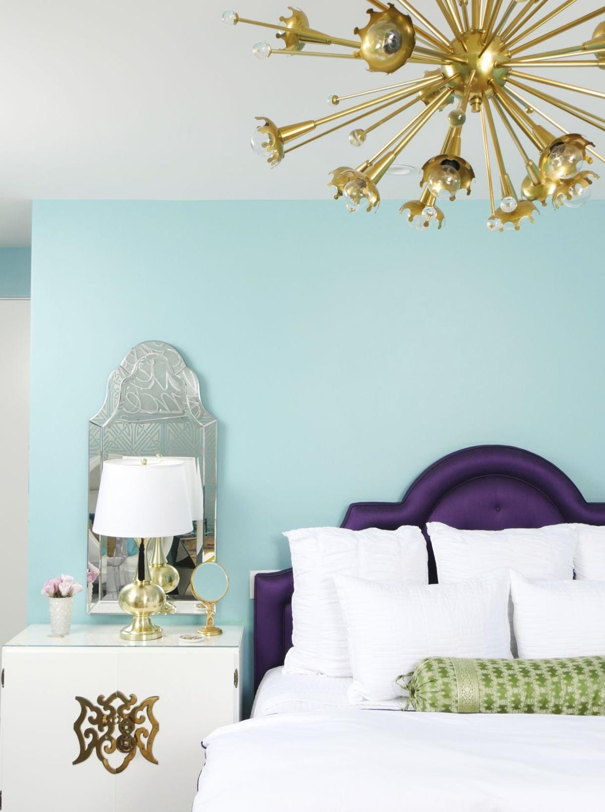 Purple and Teal Bedroom Elegant Using Trendy Ultra Violet Hue In Decor