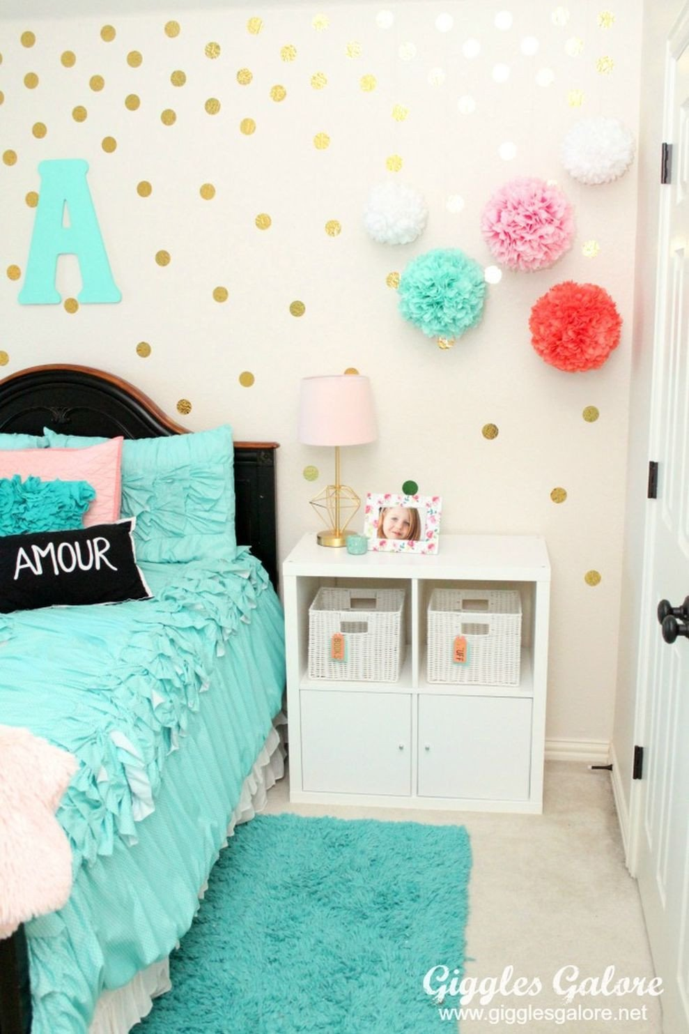 Purple and Teal Bedroom New 86 Cute Bedroom Design Ideas with Pink and Green Walls