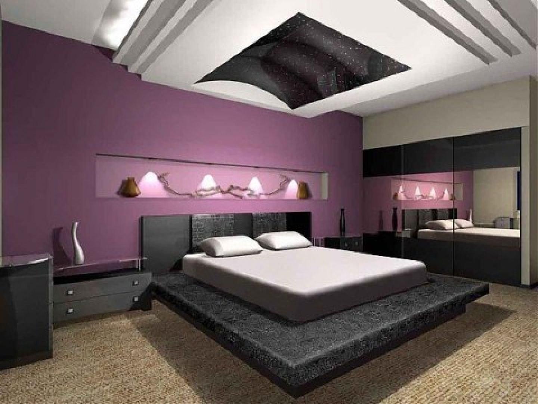 Purple and White Bedroom Luxury 37 Fancy Minimalist Basement