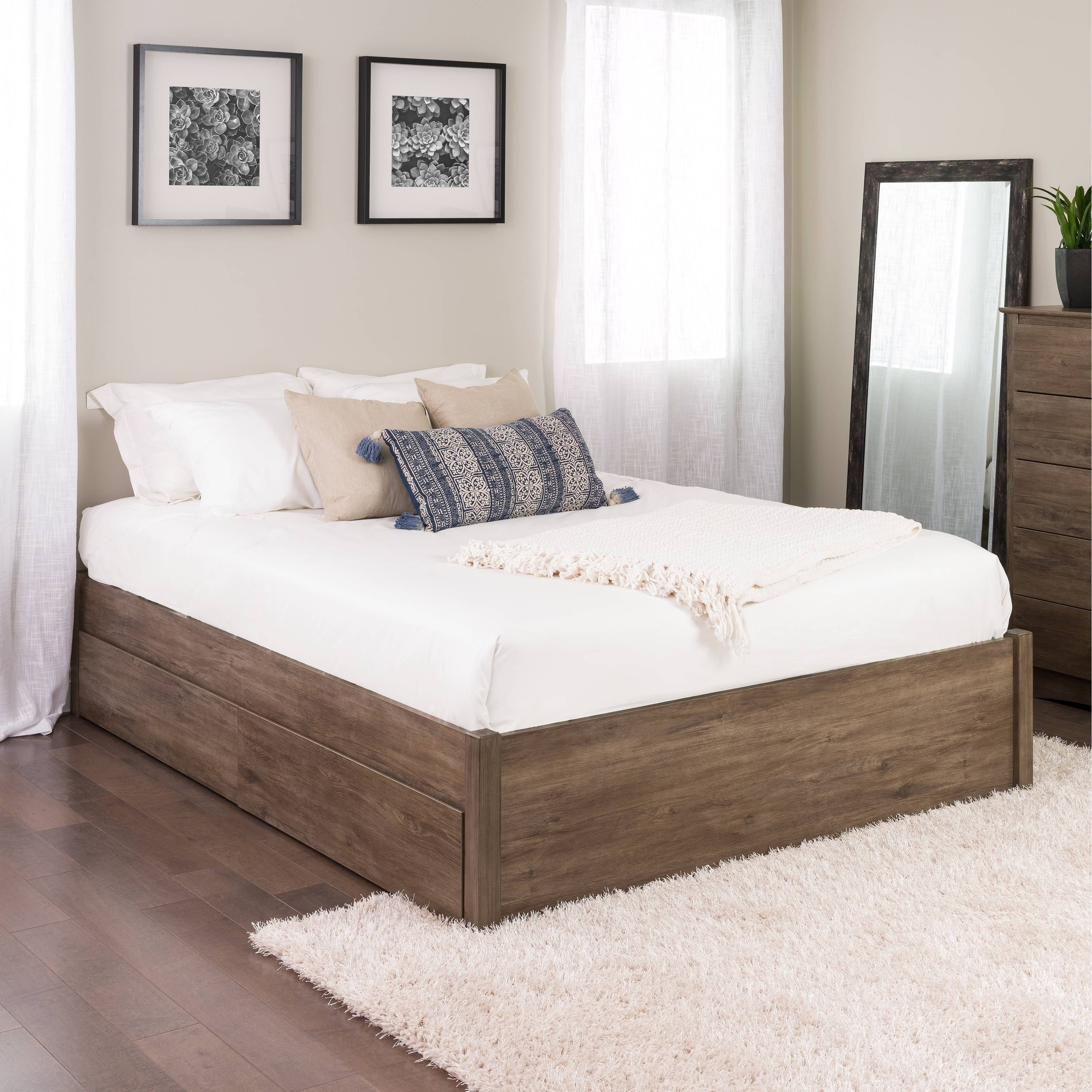 Queen Bedroom Set with Storage Drawers Luxury Prepac Queen Select 4 Post Platform Bed with Optional Drawers