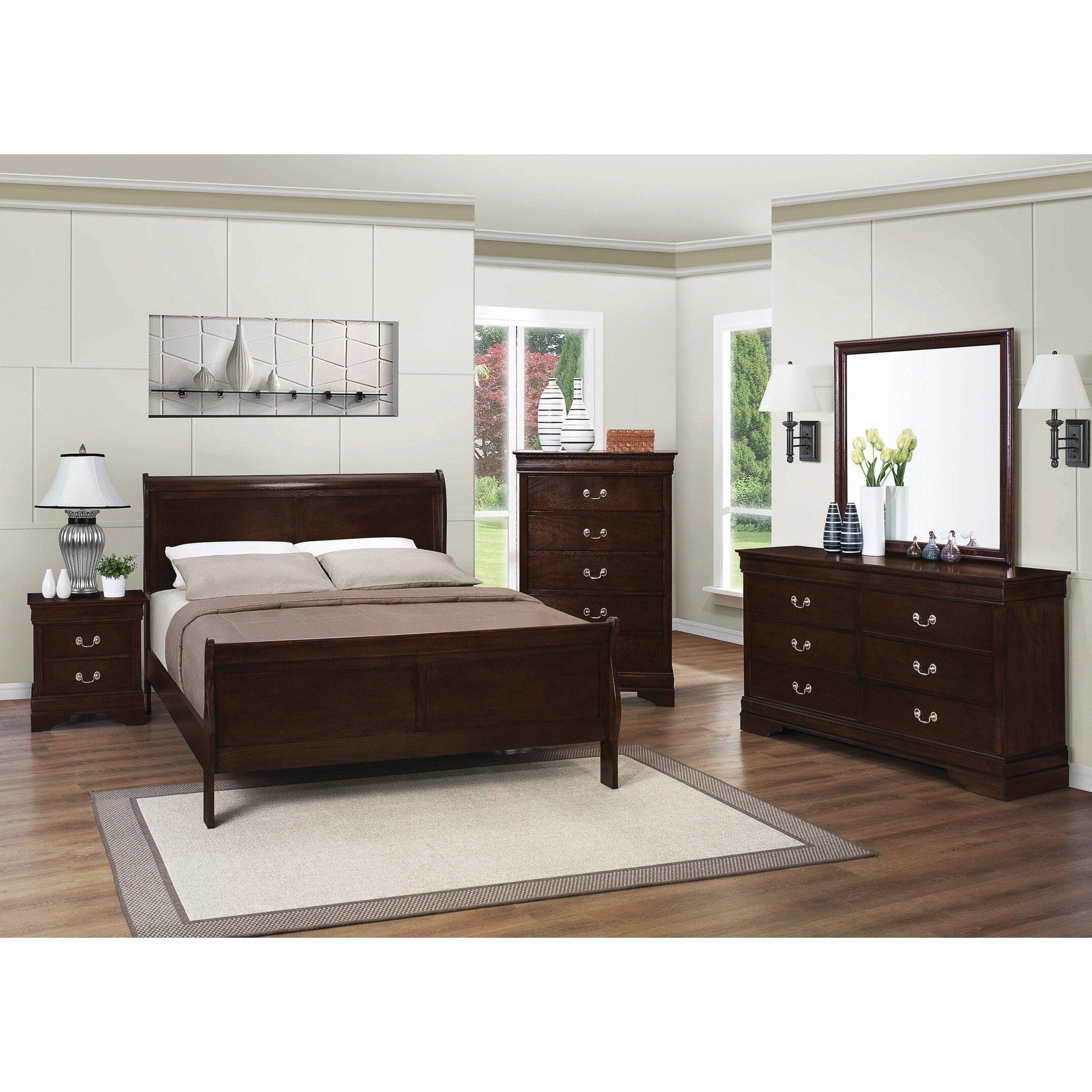 Queen Size Bedroom Suit Unique Louis Philippe Traditional Warm Brown 5 Piece Bedroom Set