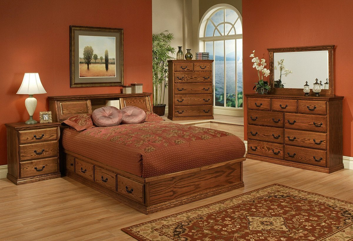 Queen Size Bedroom Suite Best Of Traditional Oak Platform Bedroom Suite Queen Size