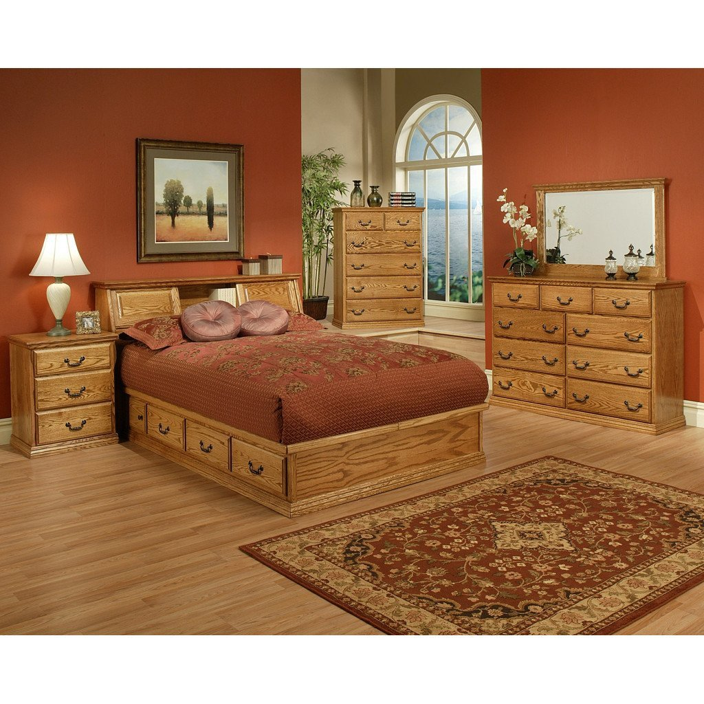Queen Size Bedroom Suite Elegant Traditional Oak Platform Bedroom Suite Queen Size