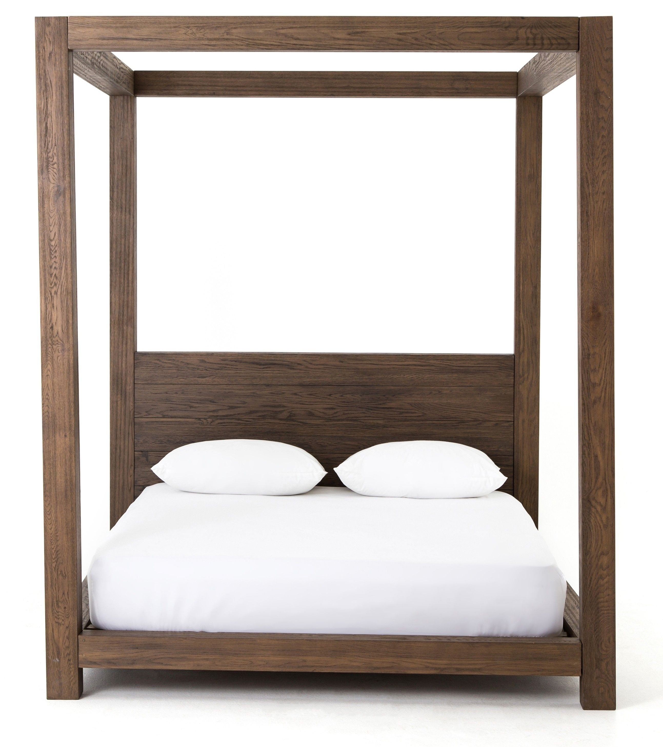 Queen Size Canopy Bedroom Set Awesome Adelka Bed Oak