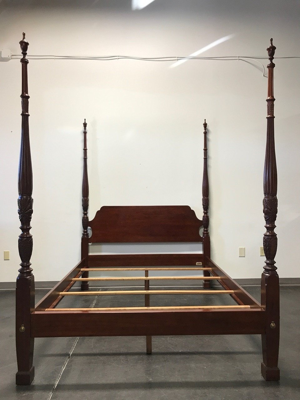 Queen Size Canopy Bedroom Set Beautiful sold Out Ethan Allen Georgian Court Cherry Wheat Carved Four Poster Bed Queen