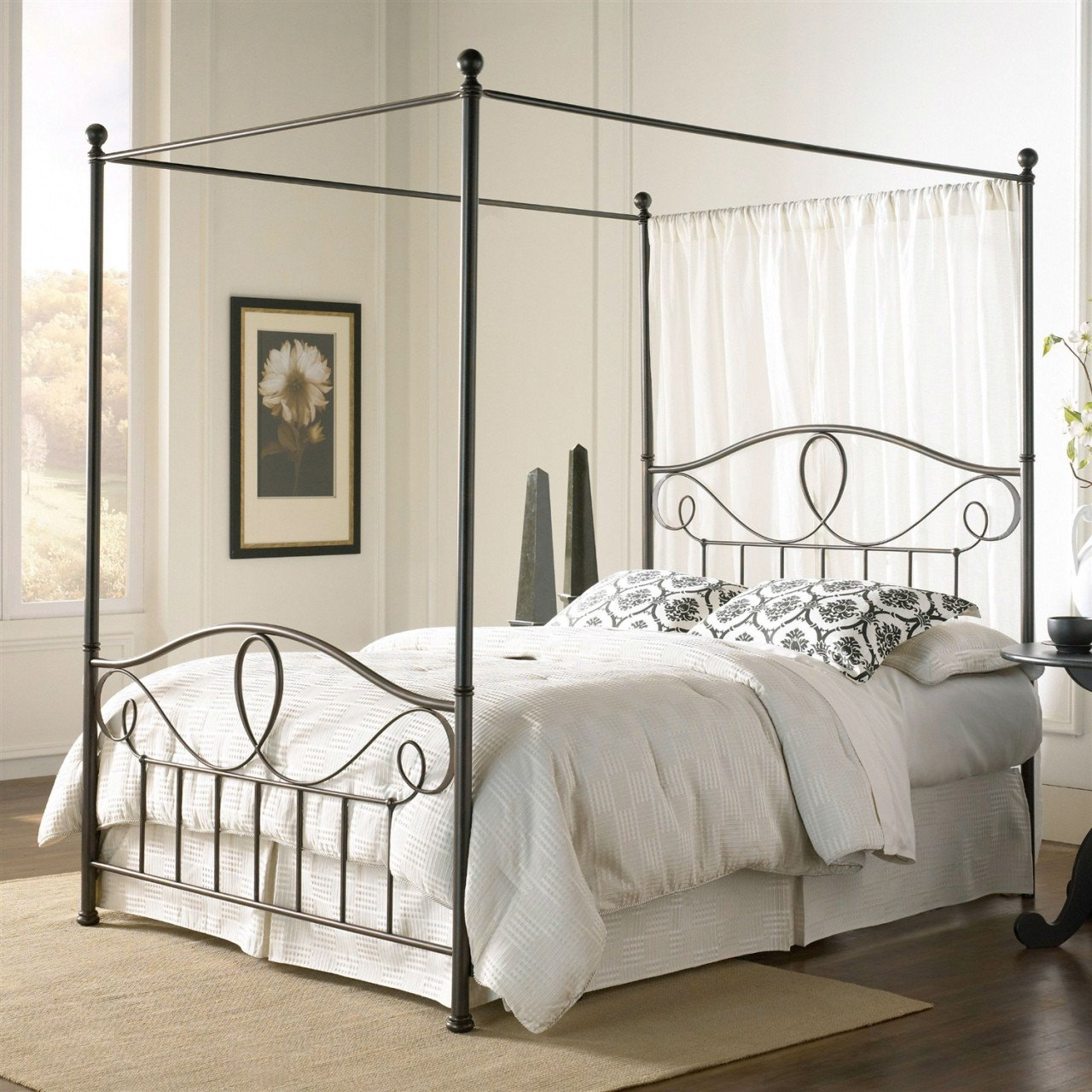 Queen Size Canopy Bedroom Set Lovely Iron Canopy Bed Frame — Procura Home Blog