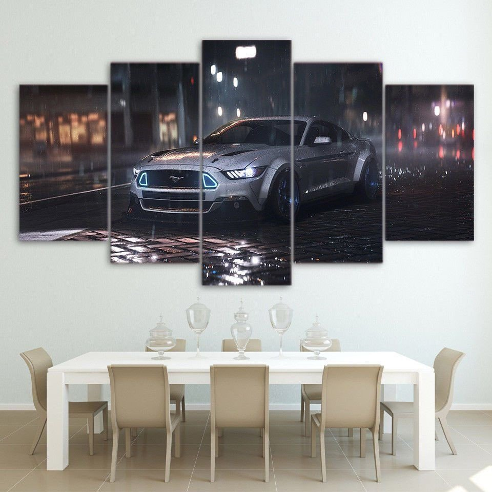 Race Car Bedroom Decor Awesome 5 Panel Print Decor ford Mustang Car Canvas Set Race Car