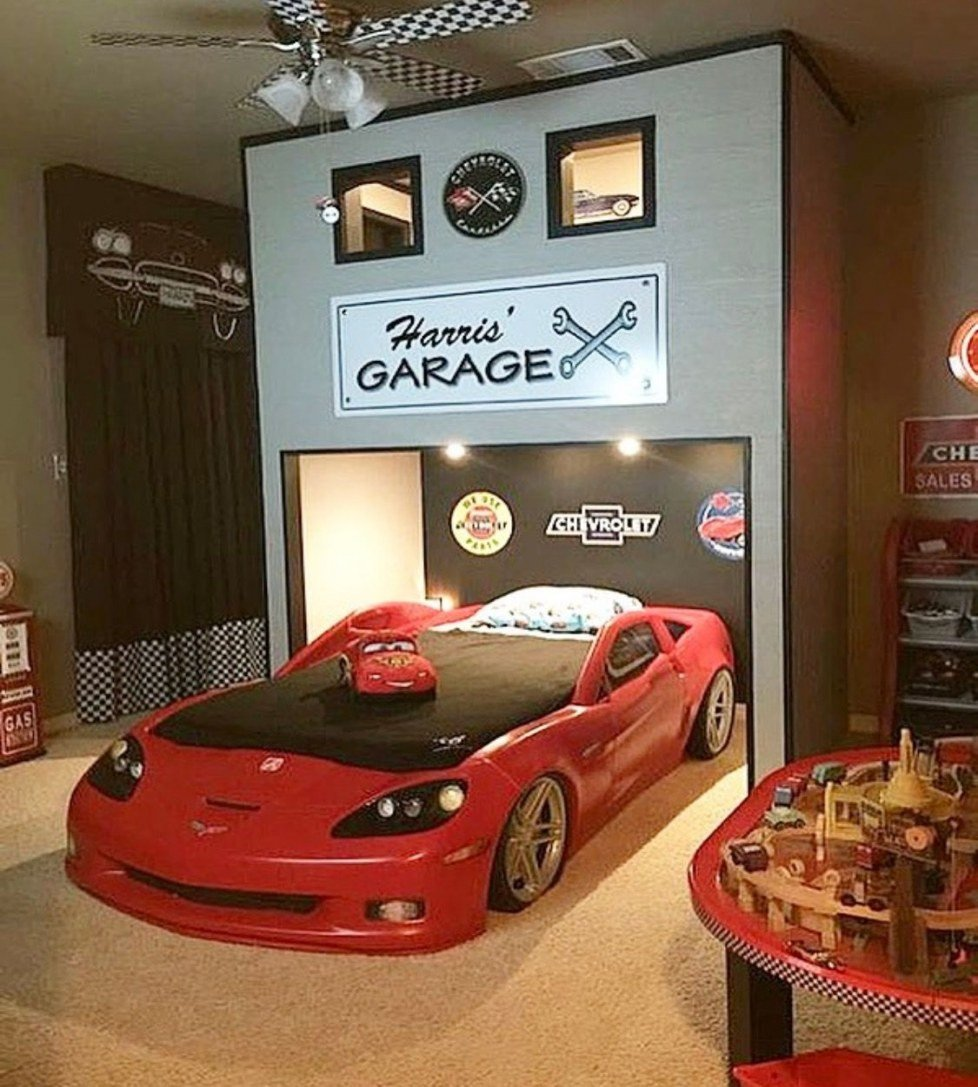 Race Car Bedroom Decor Awesome Race Car Bunk Beds Pin by Alda Silveira Kid Rooms Home