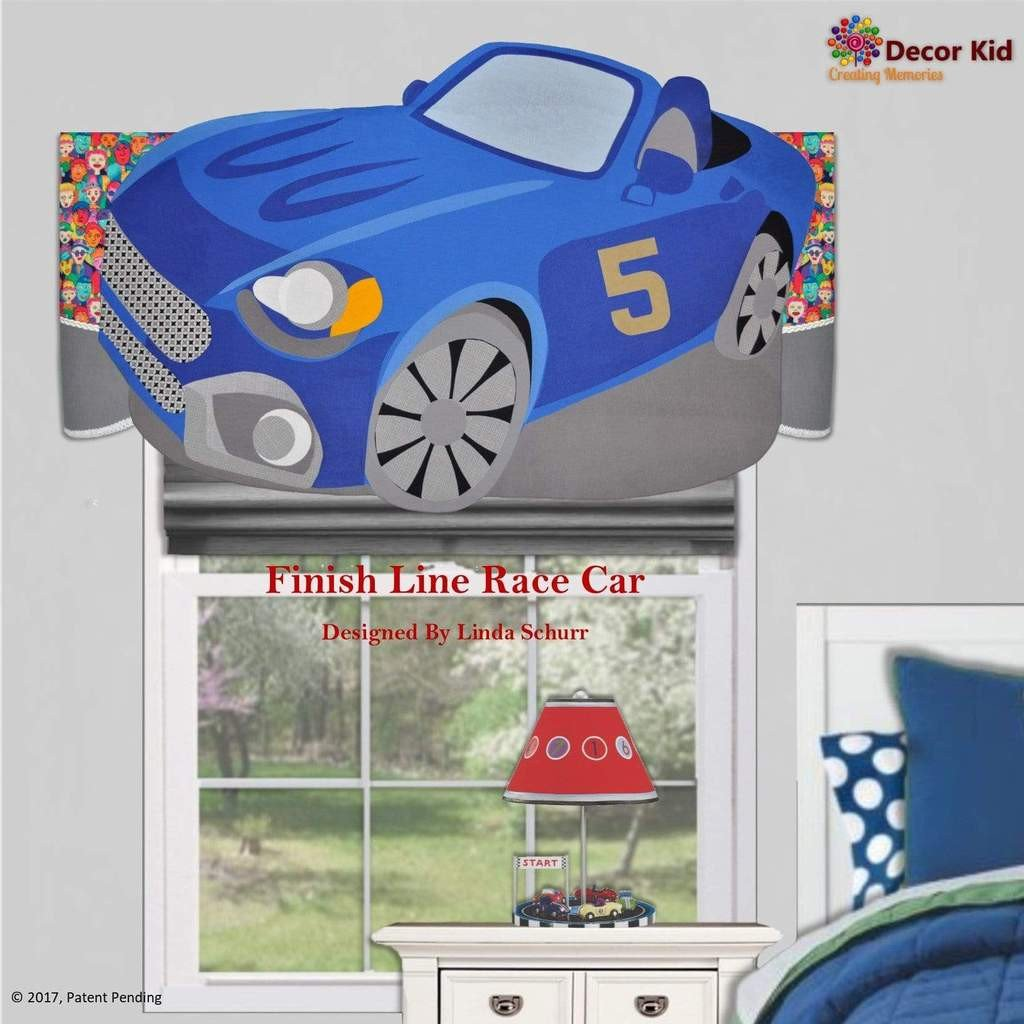 Race Car Bedroom Decor Lovely Boys Valance Finish Line Children S Race Car Decor for