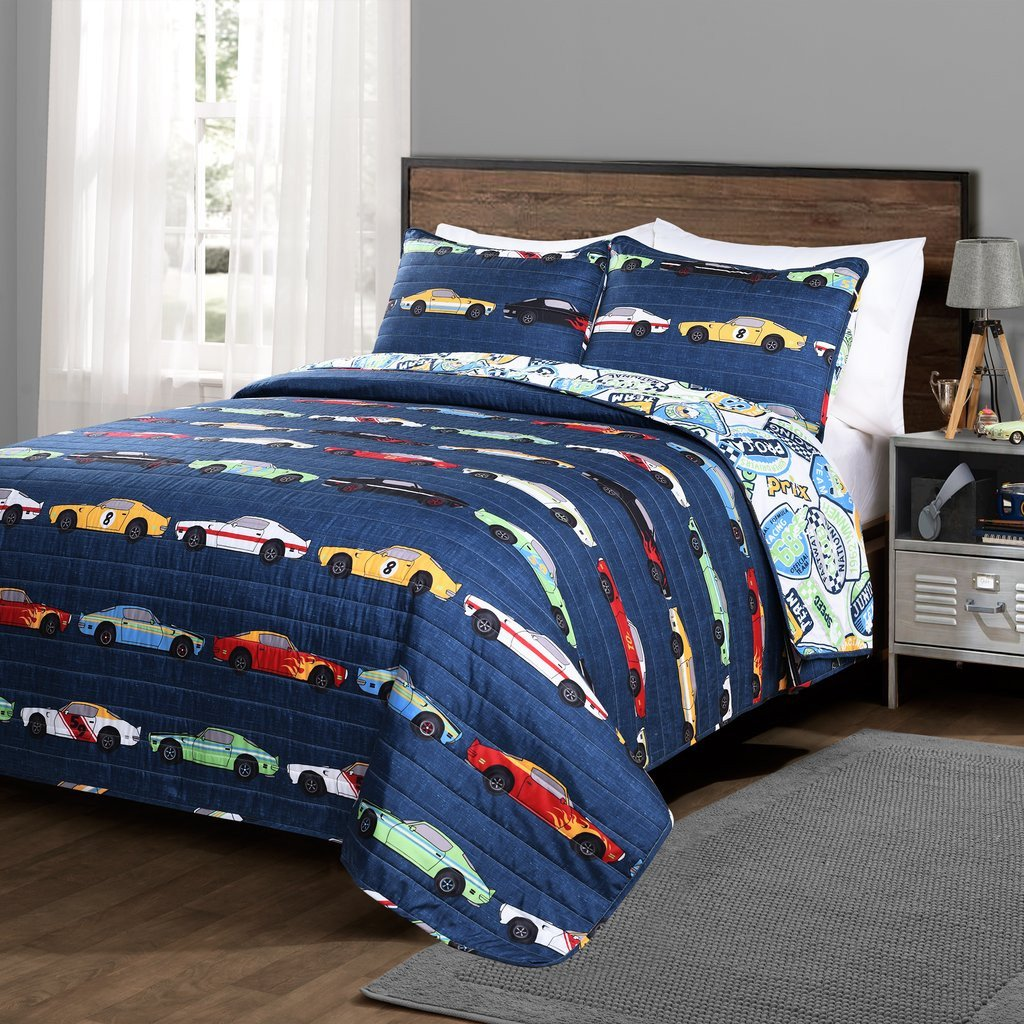 Race Car Bedroom Decor Lovely Race Cars Quilt 2 Piece Set Twin Size