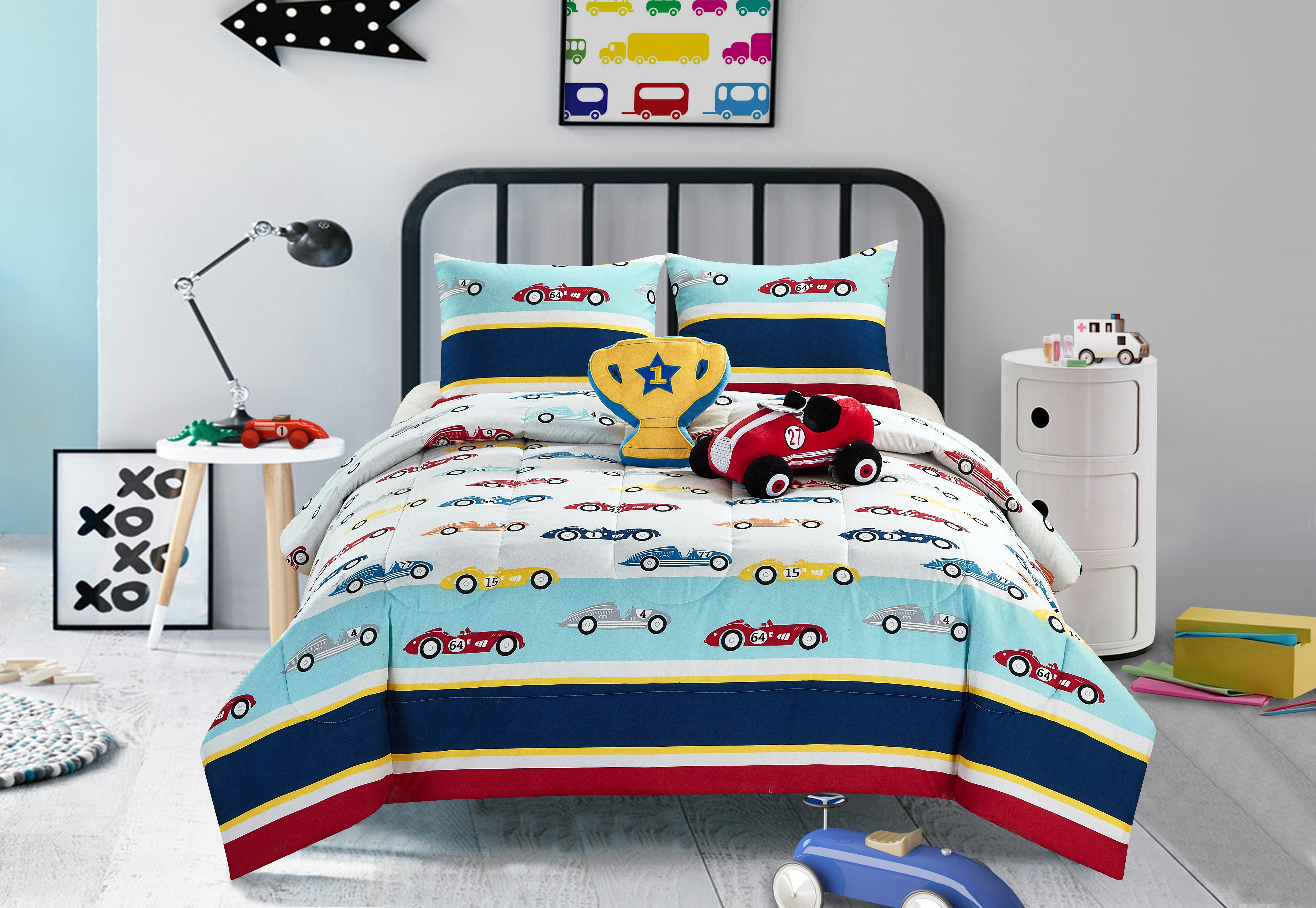 Race Car Bedroom Decor Luxury Heritage Club Kids Race Car forter Set Walmart