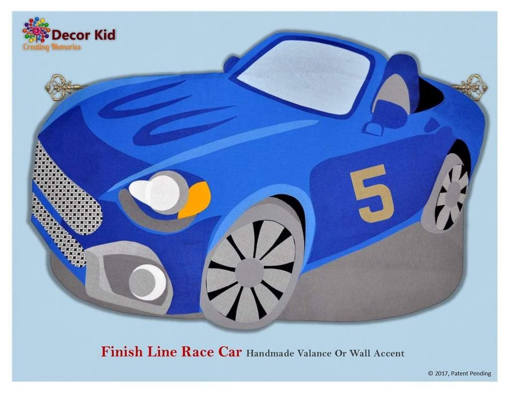 Race Car Bedroom Decor New Boys Valance Finish Line Children S Race Car Decor for