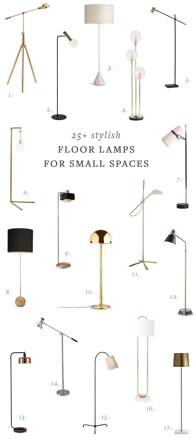 Reading Lamps for Bedroom Fresh 25 Stylish Floor Lamps for Your Small Space