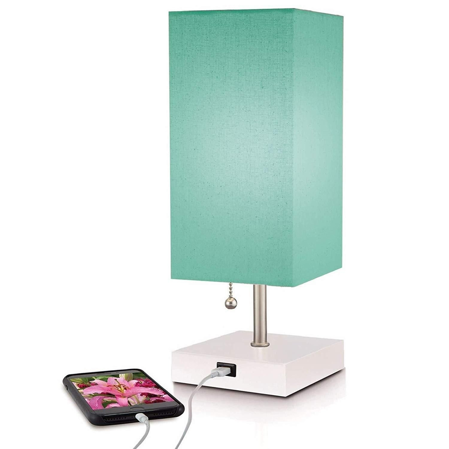 Reading Lamps for Bedroom Fresh Modern Teal Aqua Lamp Usb Port W New Improved 2 and Charger