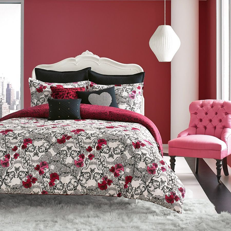 Red and Black Bedroom Set Luxury Betsey Johnson Rock Out forter Set