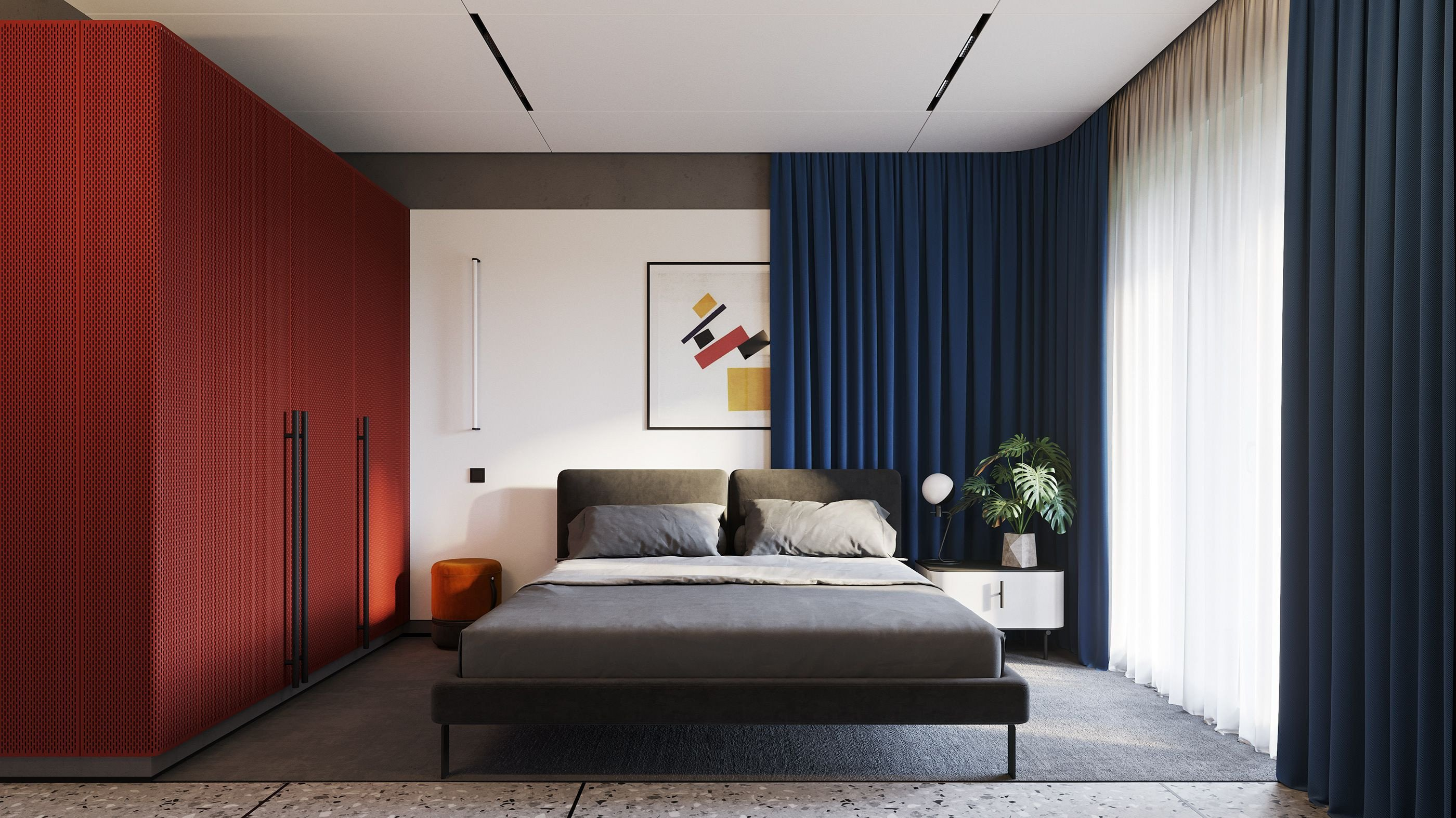 Red and Blue Bedroom Beautiful Red Yellow Blue On Behance Details Interior In 2019