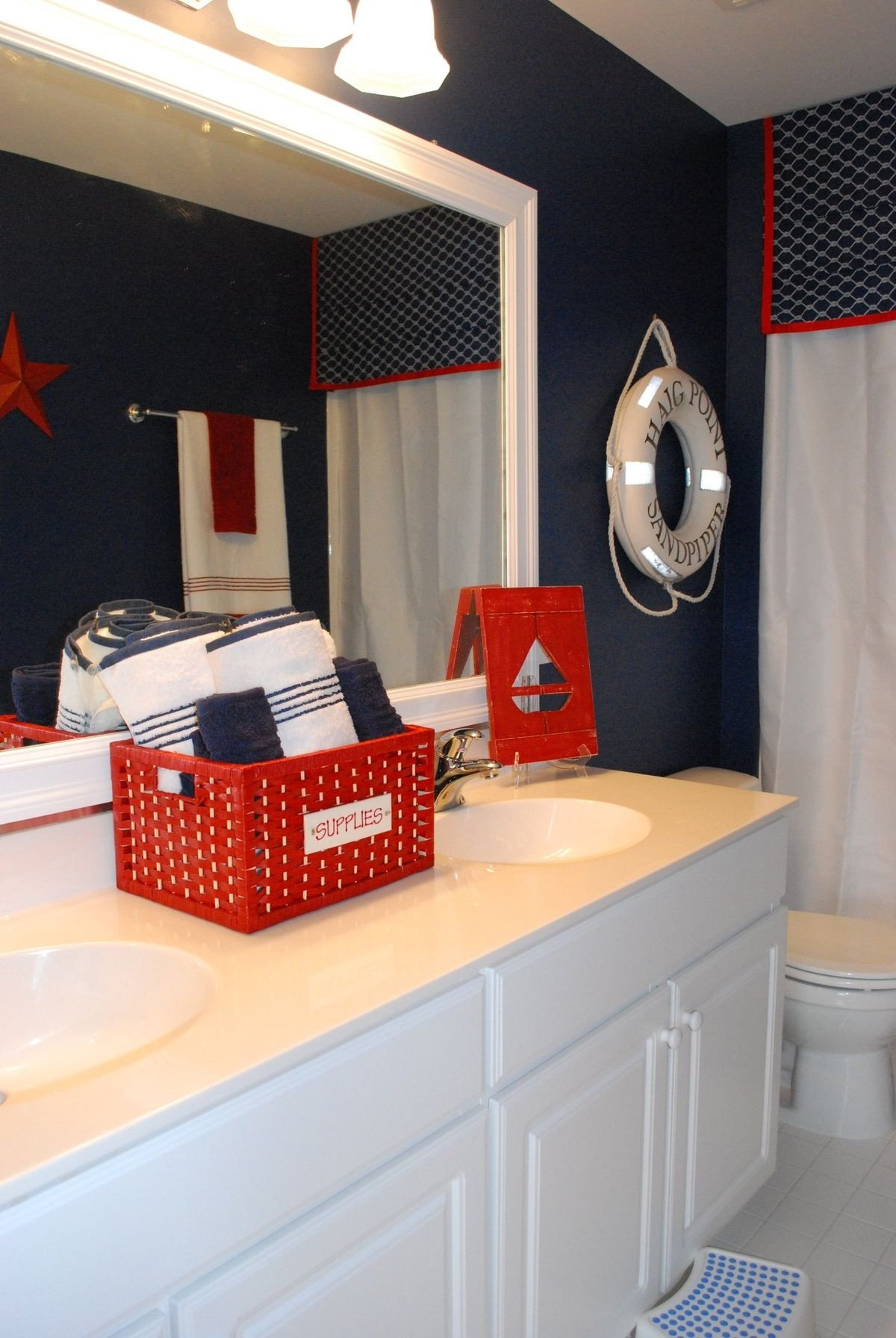 Red and Blue Bedroom Best Of Boys Bathroom with A Nautical theme