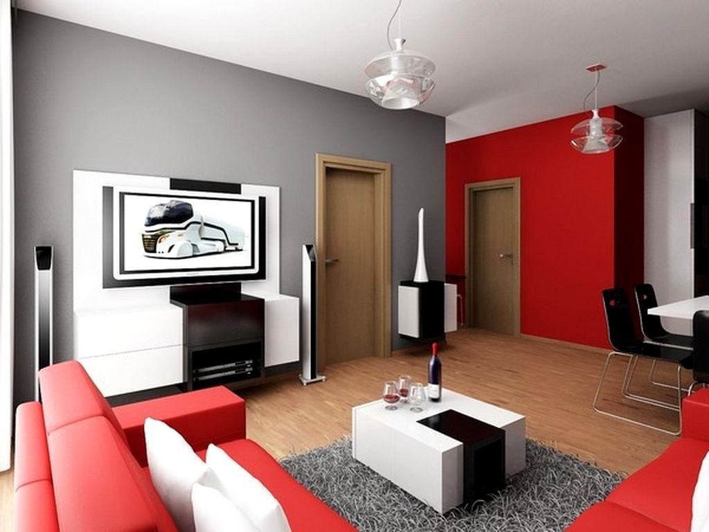 Red and Gray Bedroom Awesome Red and Grey Living Room Ideas
